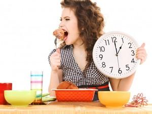 Кушать по часам