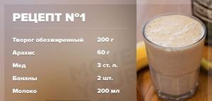 рецепт коктейля для быстрого набора веса