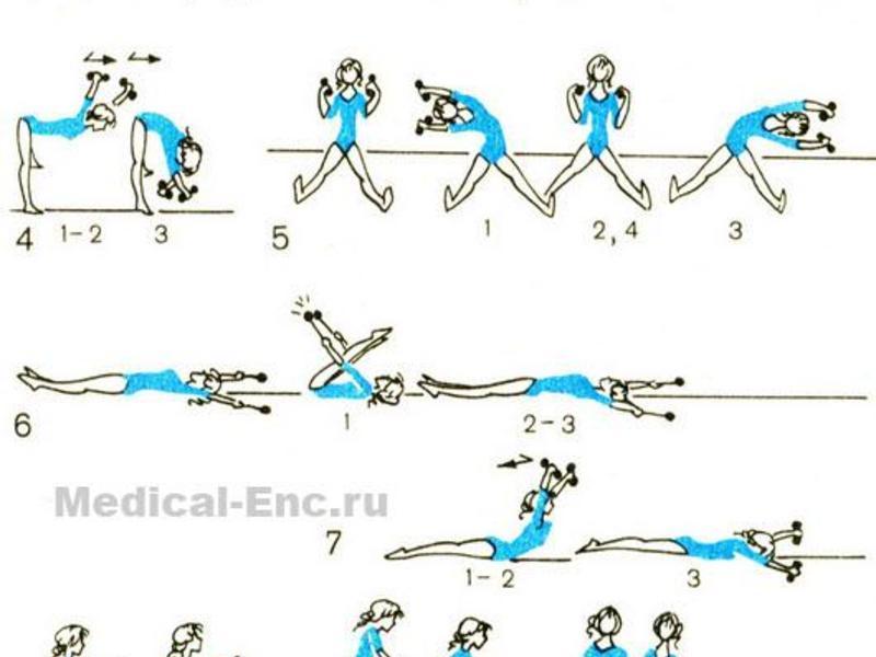 Комплекс упражнений для женщин с гантелями дома